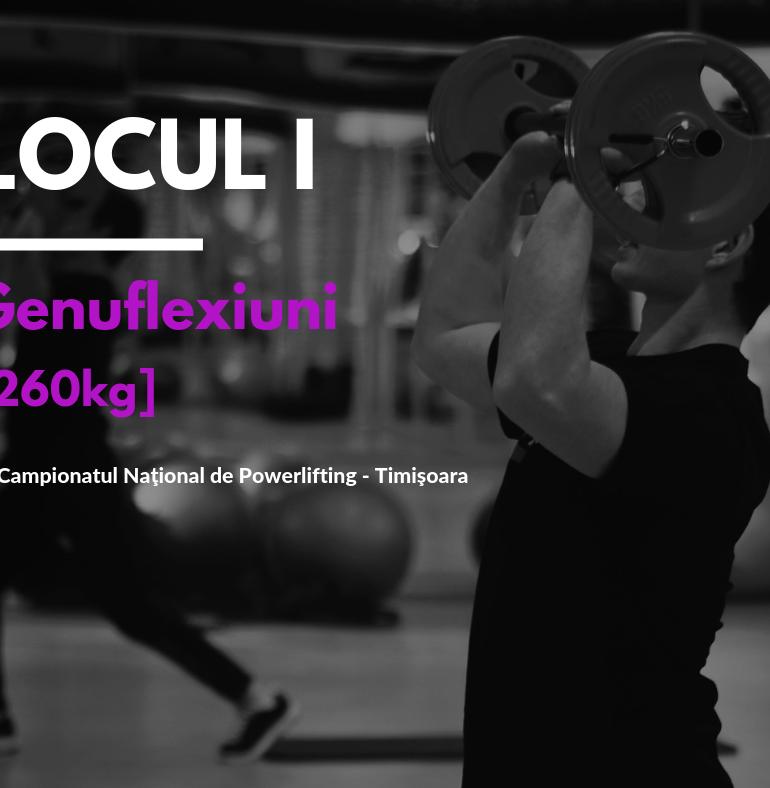 Laurențiu Avram- locul I la Campionatul Național de Powerlifting de laTimișoara