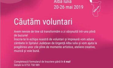 20-26 mai: Terapie prin artă la Spitalul din Alba Iulia. Înscrie-te ca voluntar și oferă zâmbete pacienților