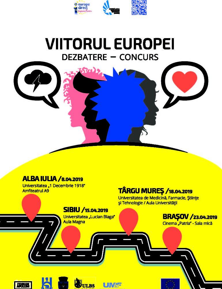 ADR Centru: Dezbateri în patru județe din Regiunea Centru cu privire la viitorul Europei, al României în Uniunea Europeană
