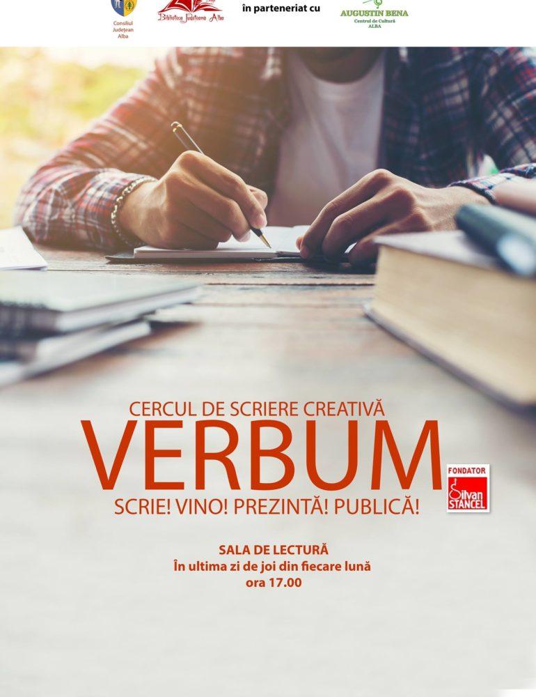 """Joi: O nouă întâlnire a cercului de scriere creativă VERBUM la Biblioteca Județeană ,,Lucian Blaga"""" Alba"""