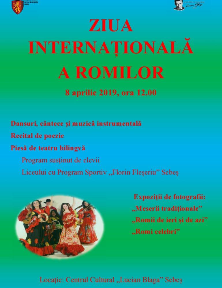 Luni: Ziua Internațională a Romilor va fi marcată la Sebeș, printr-un spectacol susținut de elevi