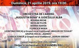 21 aprilie: Concert extraordinar de Paște la Palatul Cultural din Blaj
