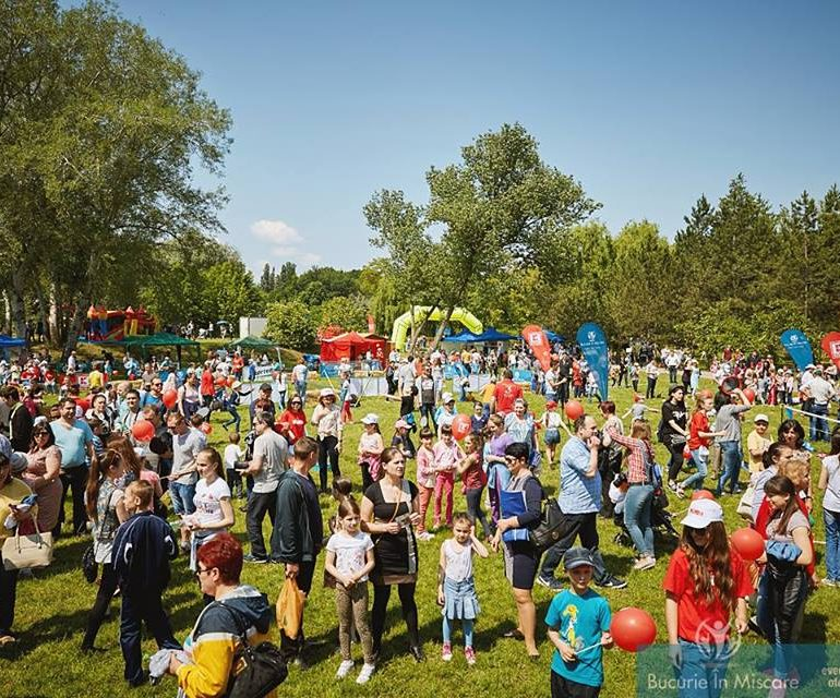 """""""Fă mișcare în pauza mare!""""  Căutăm 1000 de copii din mediul rural pentru festivalul Bucurie în Mișcare"""