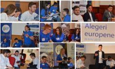 """(FOTO) Tinerii din Regiunea Centru au ales viitorul României: """"Mult mai mult împreună în Uniunea Europeană"""""""