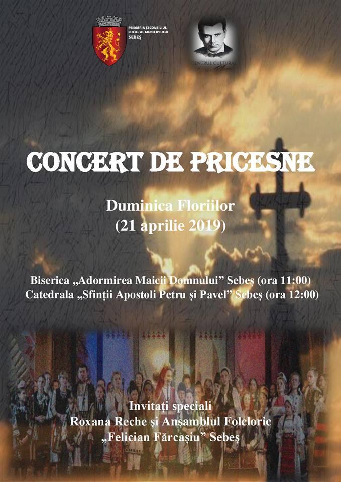 În Duminica Floriilor: Concert de pricesne la Sebeș