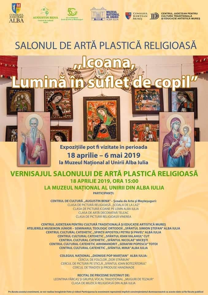 """18 aprilie – 6 mai: """"Icoana, Lumină în suflet de copil"""" – Salon de artă plastică religioasă la Alba Iulia"""