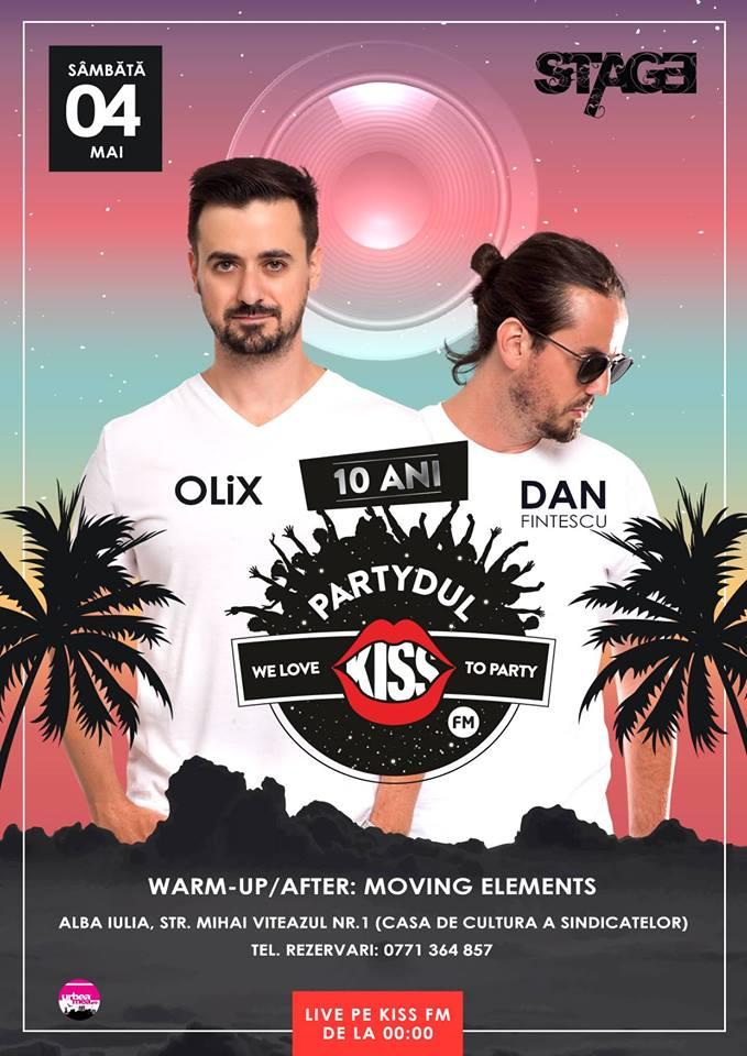 Sâmbătă: Partydul Kiss FM vă așteaptă în Club Stage. Olix şi Dan Finţescu promit o petrecere de neuitat