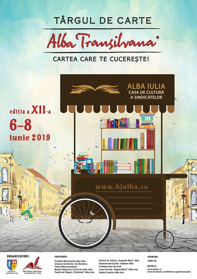 """6 – 8 IUNIE: Târgul de Carte """"Alba Transilvana"""", la Alba Iulia. Programul detaliat al ediției cu numărul XII"""