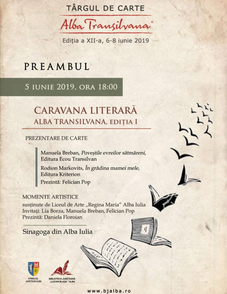 Caravana Literară Alba Transilvana deschide seria evenimentelor de la Târgul de Carte Alba Transilvana