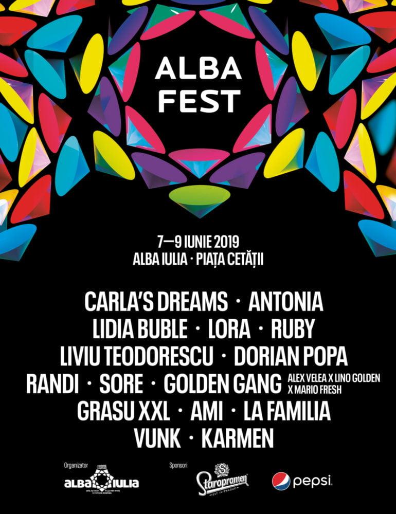 7-9 iunie: Alba Fest® 2019. PROGRAMUL celor trei zile memorabile cu super concertele pregătite la ceas de seară
