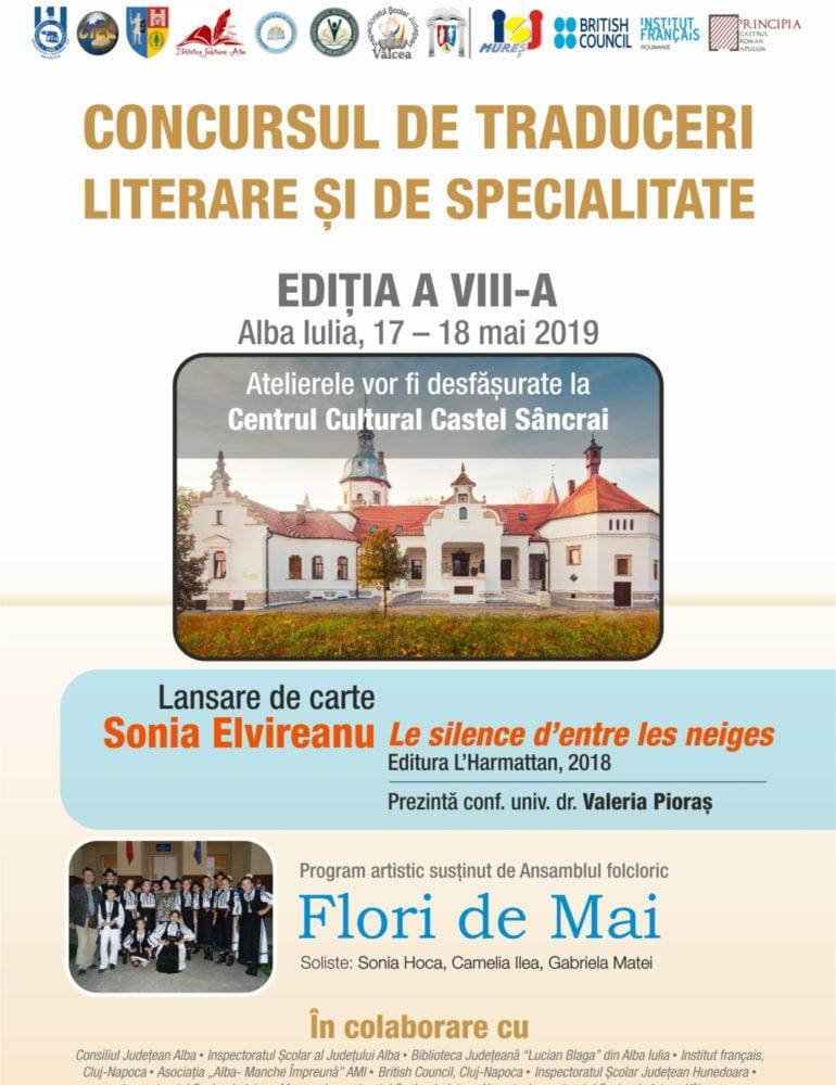 17-18 mai: Concursului național de traduceri literare şi de specialitate pentru studenți și elevi, la UAB