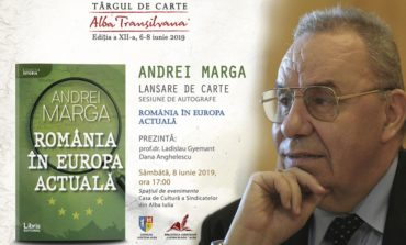 Andrei Marga își  lansează cea mai recentă carte  la Târgul de Carte Alba Transilvana