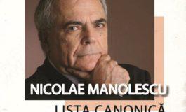 Două evenimente de marcă avându-l ca amfitrion pe criticul și istoricul literar Nicolae Manolescu, la Târgul de Carte Alba Transilvana