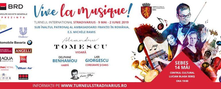 """14 mai: Turneul Internațional Stradivarius ajunge la Sebeș. Concert extraordinar la Centrul Cultural """"Lucian Blaga"""" Sebeș"""
