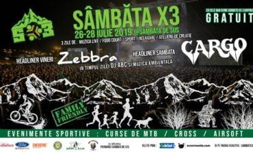 """26-28 IULIE: Iubitorii de sport, natură și muzică sunt așteptați la prima ediție a Festivalului """"Sâmbăta X3"""""""