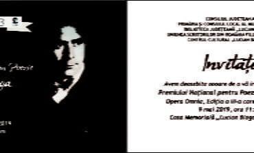 """JOI: Premiul Național de Poezie """"Lucian Blaga"""" - Opera Omnia, ediția a III-a"""