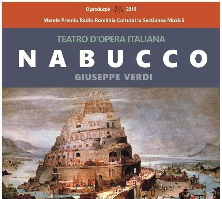 """11 iunie: Opera """"Nabucco"""", de Giuseppe Verdi, la Casa de Cultură a Sindicatelor din Alba Iulia"""
