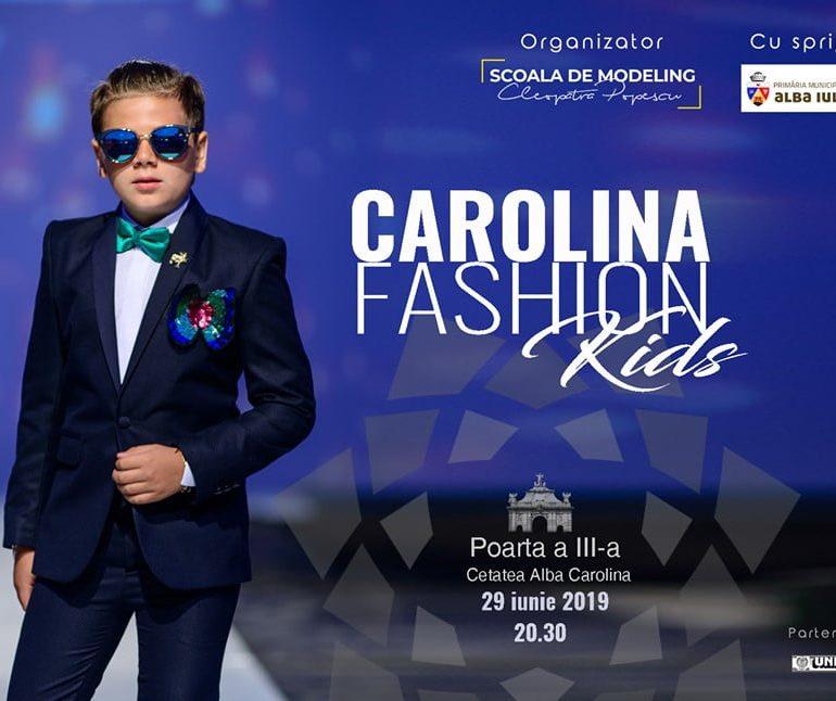 SÂMBĂTĂ: Carolina Fashion Kids, la Alba Iulia. Elevii Şcolii de Modelling Cleopatra Popescu vă introduc în fascinanta lume a modei