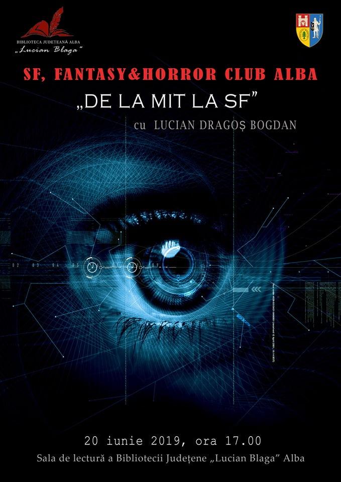 "În luna iunie la Biblioteca Județeană ""Lucian Blaga"" Alba – SF, Fantasy & Horror Club Alba"
