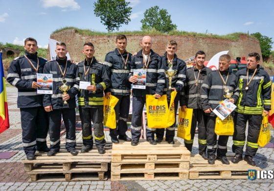 FOTO: Mihai Avram de la ISU Alba a fost desemnat cel mai puternic pompier