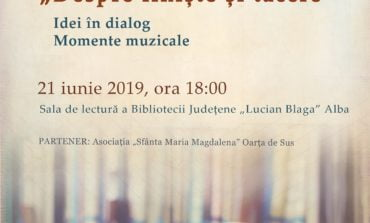 """Despre liniște și tăcere. Dialoguri, muzică și carte la Seratele Bibliotecii Județene """"Lucian Blaga"""" Alba"""