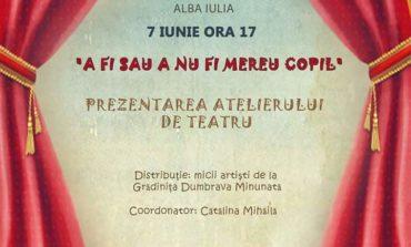 """Vineri: Spectacolul final al atelierului de teatru """"A fi sau a nu fi mereu copil"""", coordonat de Cătălina Mihăilă"""