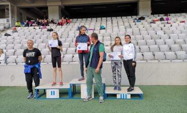 FOTO: Atletă legitimată la CS Unirea Alba Iulia, locul 3 la etapa de zonă a Campionatului Național de copii