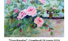 """Sâmbătă: Expoziția de pictură """"Simfonia florilor"""" semnată de Rodica Pungea, în cadrul manifestării """"Ziua Rozelor"""" de la Ciumbrud"""