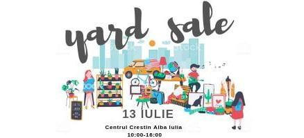 13 iulie : YARD SALE- târg în scop caritabil