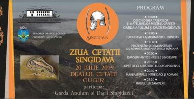 """Sâmbătă: Prima ediție a evenimentului """"Ziua Cetății Singidava"""", la Cugir"""