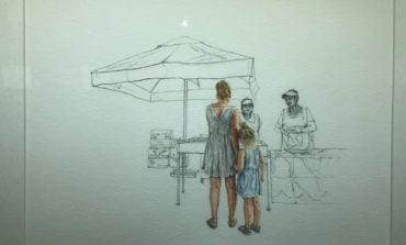 """FOTO: """"Zi de piață în Aiud"""", expoziție de artă semnată de María Gloria Andrade din Ecuador"""