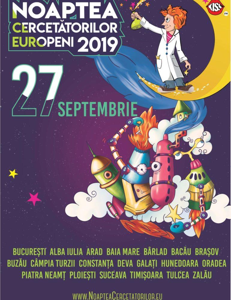 Păşește într-un Univers Știinţific la Noaptea Cercetătorilor, eveniment ce se desfășoară în toată Europa, în data de 27 septembrie 2019
