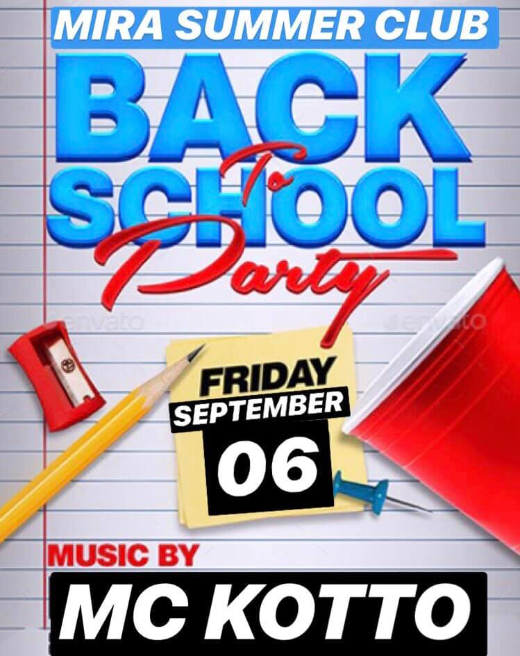 "VINERI: ""BACK to SCHOOL Party"" la Terasa Mira Summer din Alba Iulia"