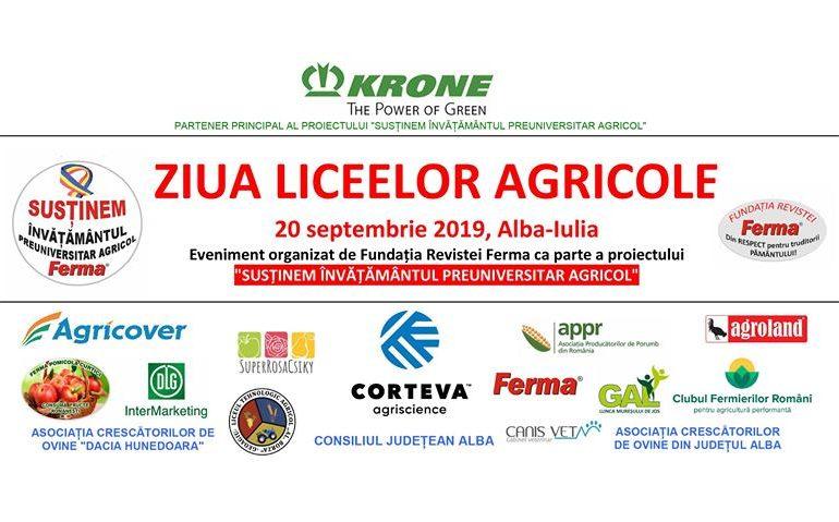 20 septembrie: Ziua Liceelor Agricole, la Alba Iulia. EVENIMENT pentru susţinerea învăţământului preuniversitar agricol