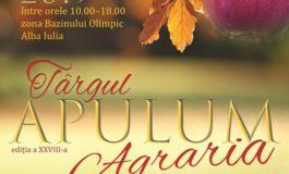 20-22 septembrie: Târgul APULUM AGRARIA, în spaţiul expoziţional din zona Bazinului Olimpic din Alba Iulia