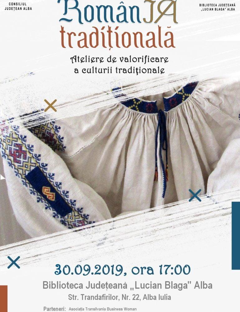"""LUNI: RomânIA tradițională la Biblioteca Județeană """"Lucian Blaga"""" Alba"""