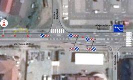 FOTO: Bandă de circulație reversibilă în Alba Iulia pe Calea Moților