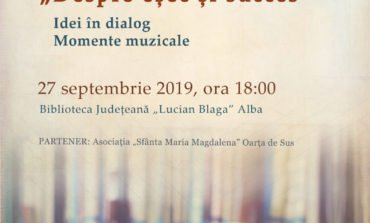 """Vineri: """"Despre eșec și succes"""" este tema lunii septembrie a Seratelor Bibliotecii Județene """"Lucian Blaga"""" Alba"""