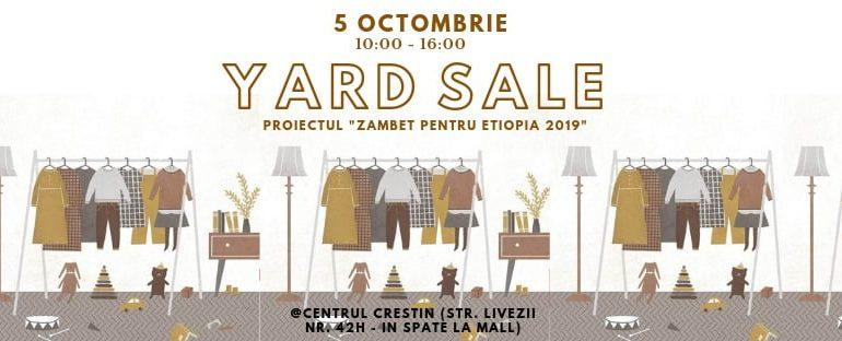 """5 octombrie: Yard Sale la Alba Iulia. Campanie umanitară de strângere de fonduri pentru continuarea Proiectului """"Zâmbet pentru Etiopia"""""""
