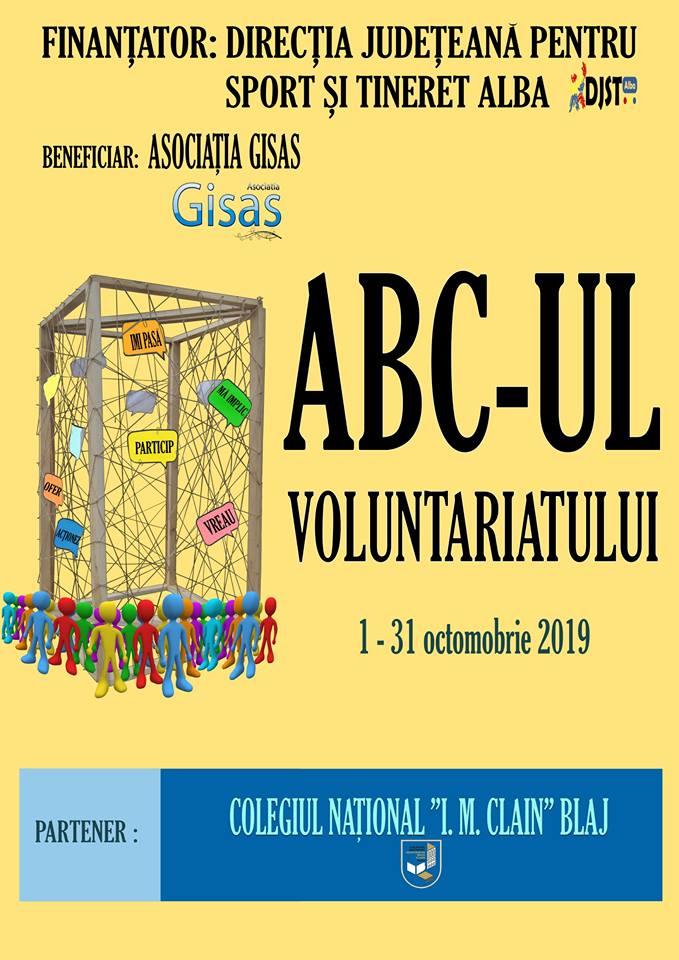 """""""ABC-ul Voluntariatului"""", proiect implementat de Asociația GISAS Sebeș"""