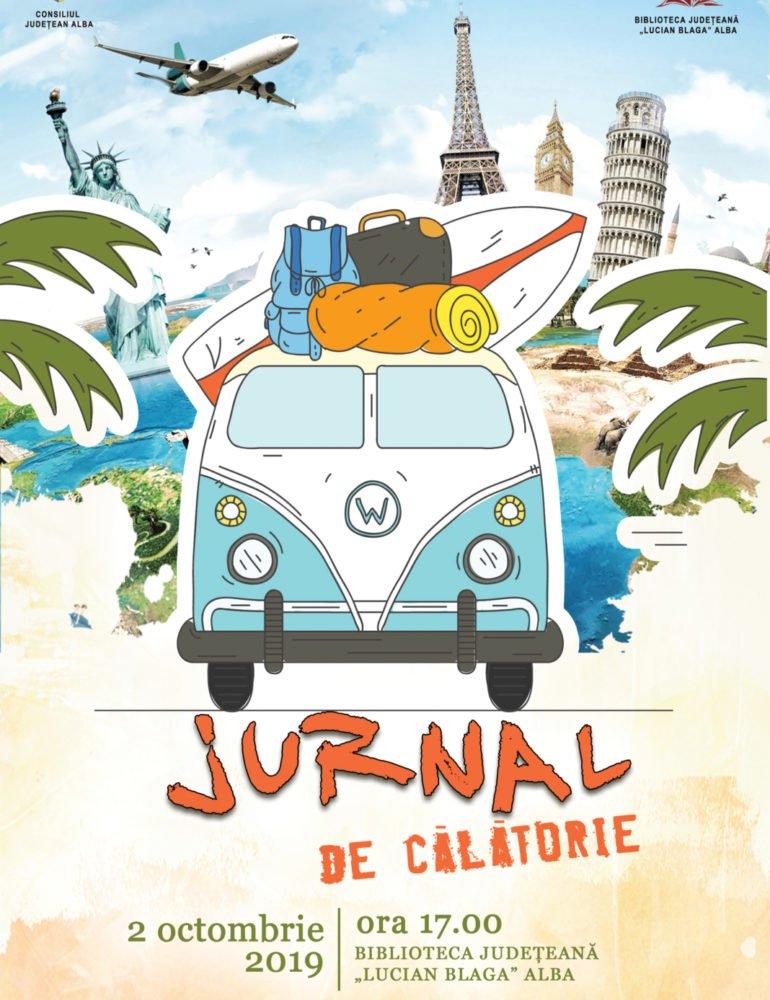 """JURNAL DE CĂLĂTORIE, un nou proiect al Bibliotecii Județene """"Lucian Blaga"""" Alba pentru iubitori de călătorii"""