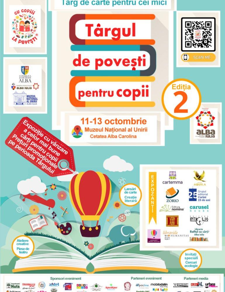 """11-13 octombrie: """"Târgul de povești pentru copii"""" – Ediția a II-a. Târg de carte dedicat celor mici"""
