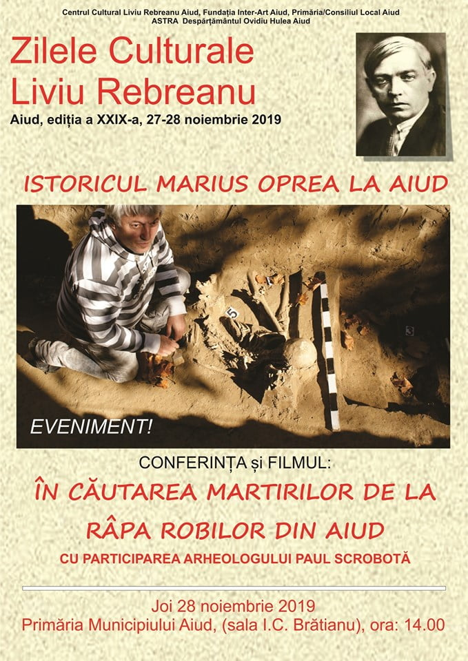 27-28 noiembrie: Zilele Culturale Liviu Rebreanu Aiud, ediția a XXIX-a