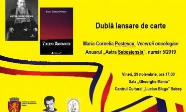 """29 noiembrie: Dublă lansare de carte găzduită de Centrul Cultural """"Lucian Blaga"""" Sebeș"""