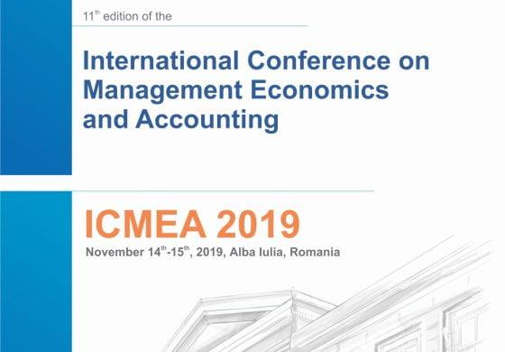JOI: A XI-a ediţie a manifestării științifice internaționale International Conference on Management, Economics and Accounting – ICMEA 2019 la UAB