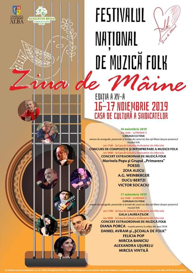 """Festivalul Național de Muzică Folk """"Ziua de Mâine"""": Tinerii folkiști așteptați să se înscrie pentru concursul de interpretare"""