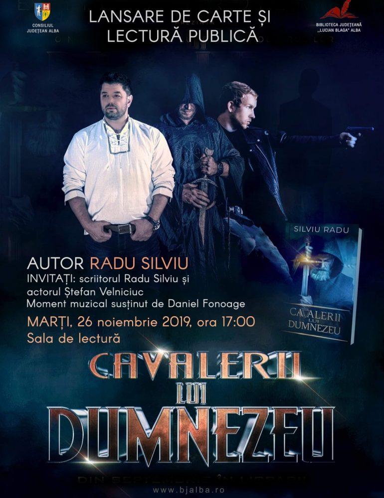 """Cea mai recentă carte a scriitorului şi regizorului Radu Silviu lansată în cadrul Zilelor Bibliotecii Judeţene """"Lucian Blaga"""" Alba"""