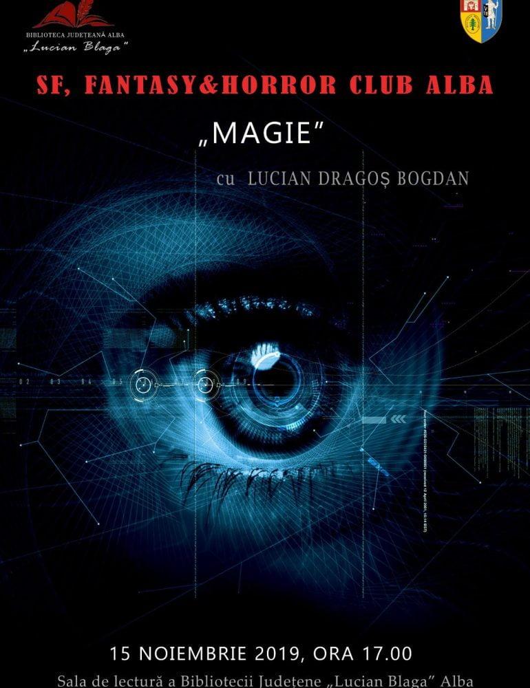 """În luna noiembrie la Biblioteca Judeţeană """"Lucian Blaga"""" Alba – SF, Fantasy & Horror Club Alba"""