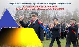 """ASTĂZI: Stagiunea de concerte a Fanfarei """"Augustin Bena"""" a județului Alba continuă la Ciumbrud"""