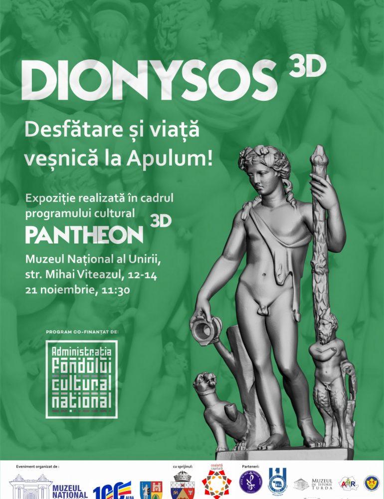 21 noiembrie: Expoziția DIONYSOS 3D, la Muzeu Național al Unirii din Alba Iulia